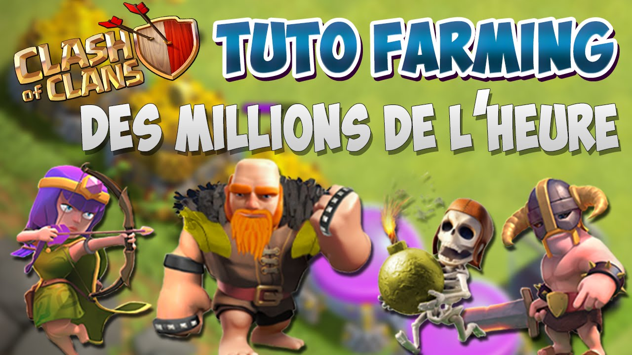 Comment farmer avec archers + barbares (Barches) + géants