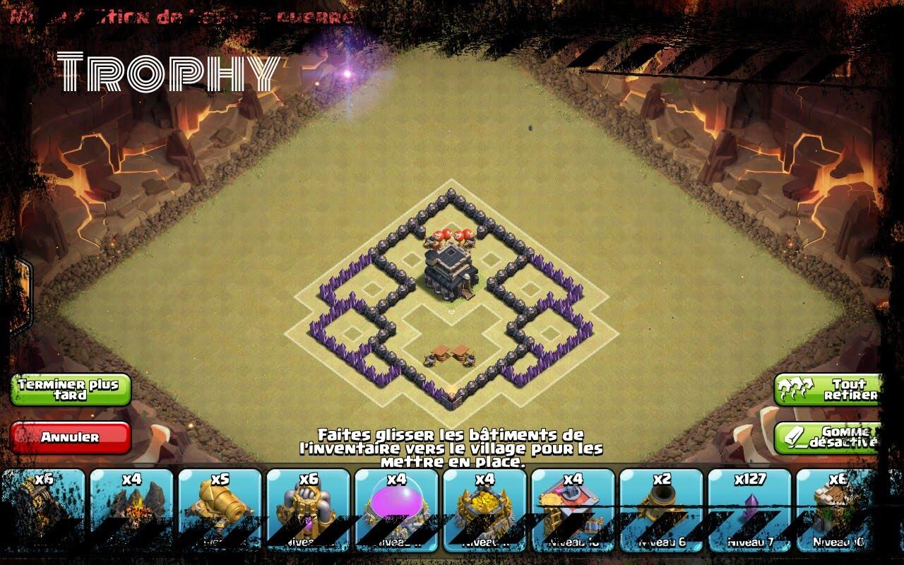 Les meilleures bases anti 3 étoiles pour HDV 5 en guerres de clans