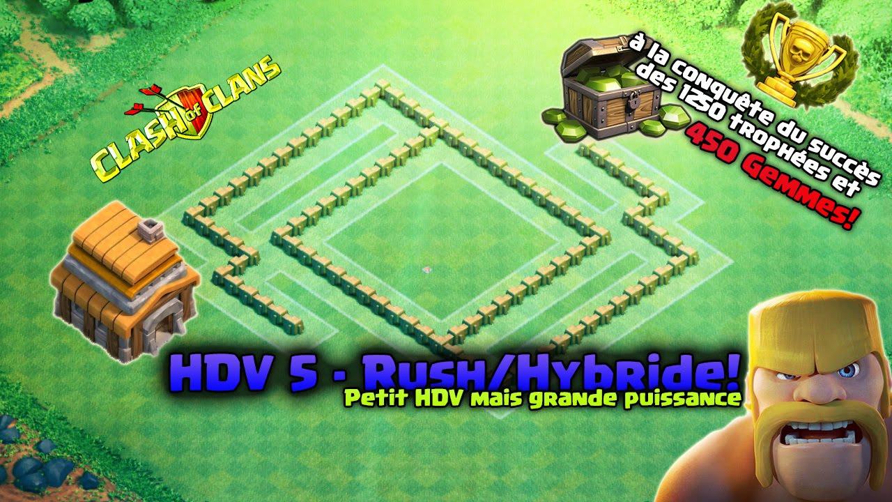 Village hybride pour HDV 5 farming et guerres de clans